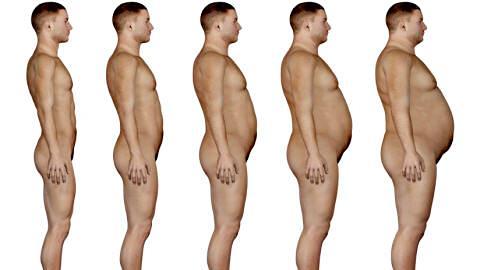 Évolution de l'obésité chez un homme
