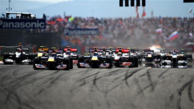 Le départ du Grand Prix de Turquie