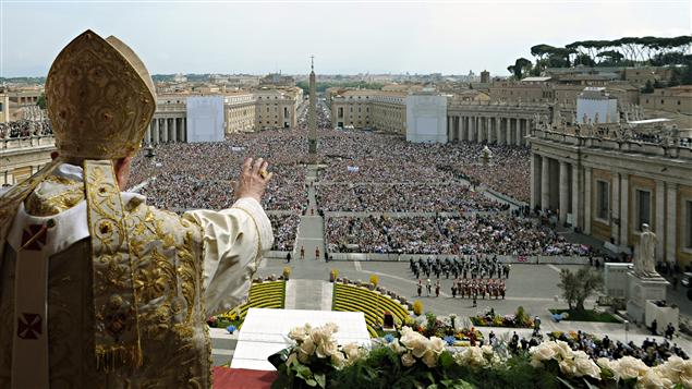 Benoit XVI lors de la messe pascale, le 24 avril 2011, au Vatican