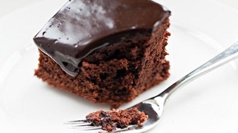 Gateau au chocolat et ganache