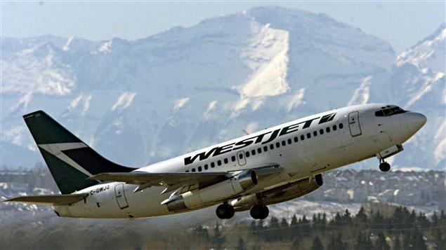 Avion de WestJet à Calgary
