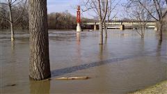 La rivière Rouge a atteint son niveau maximal mercredi à Winnipeg.
