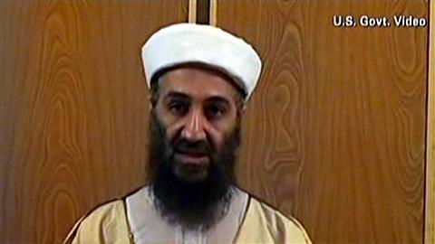 Image d'une vidéo de Ben Laden