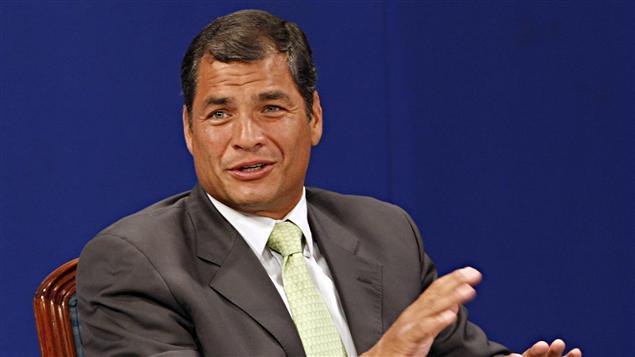 Rafael Correa, président de l'Équateur, le 7 mai 2011