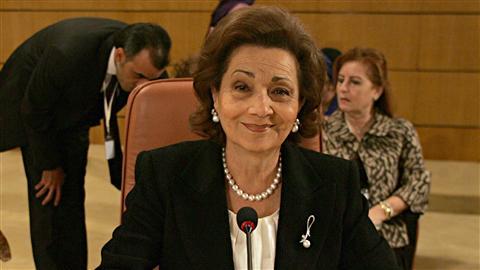 Suzanne Moubarak à Tunis, en 2010.