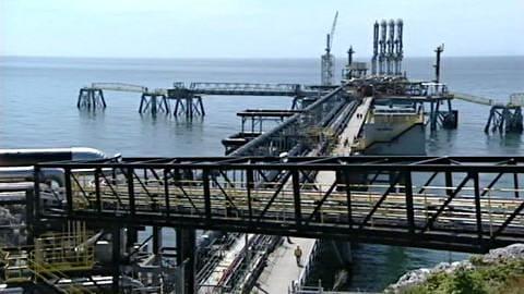 Canaport, le nouveau port méthanier de Saint-Jean sur la côte est du Canada.