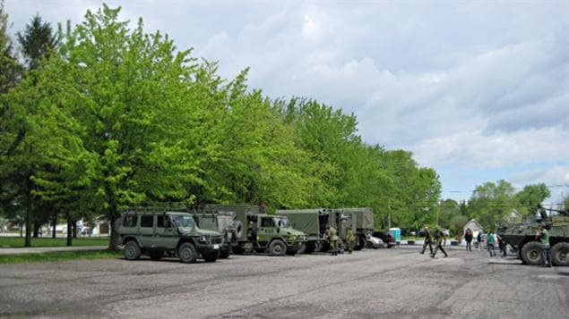 Militaires à Venise-en-Québec