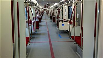 L'intérieur des nouveaux wagons.