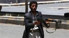 Un loyaliste au Y�men, le 6 juin 2011.