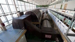 L'extérieur du faux vaisseau de l'expérience Mars 500