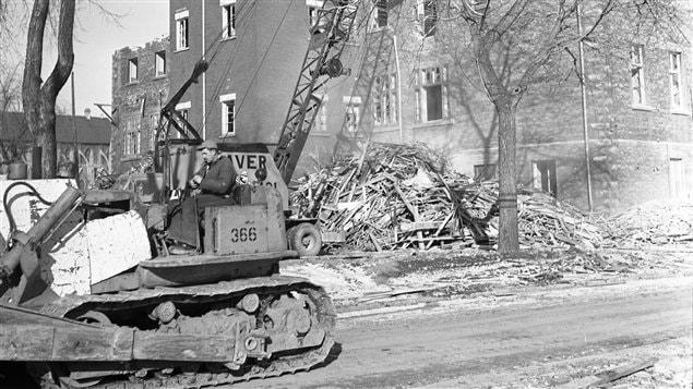 Terrains de Radio-Canada et démolition des dernières maisons (11 décembre 1963)