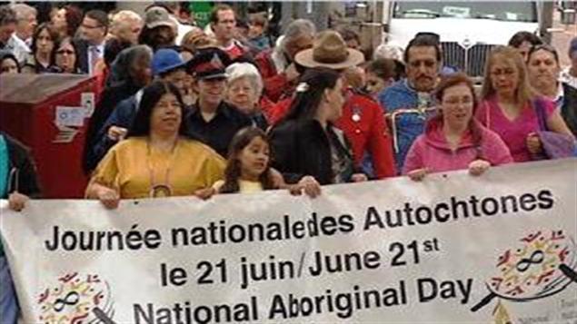 Marche pour la Journée nationale des Autochtones