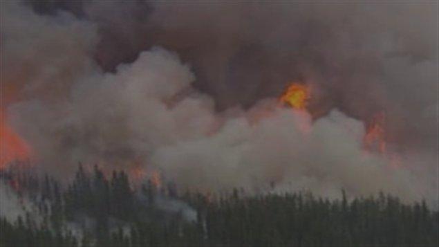 feux de forêt dans le nord-ouest de l'Ontario, juillet 2011.
