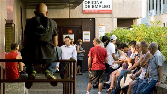 Des chômeurs à Madrid