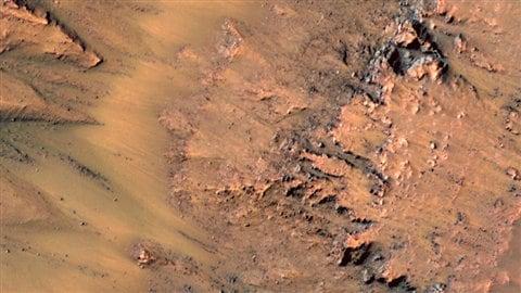 Photo prise dans le cratère Newton