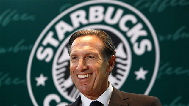 Le PDG de Starbucks, Howard Schultz