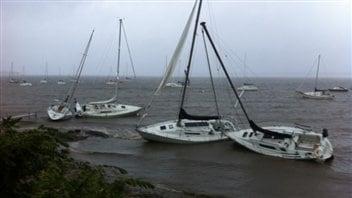 Scène croquée au Lac Champlain par Gratien Courtois