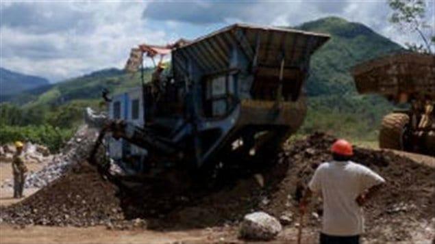 La minera canadiense Blackfire Exploration en Chiapas, México, en 2009.