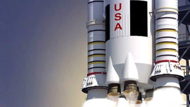 Impression artistique de la nouvelle fusée de la NASA