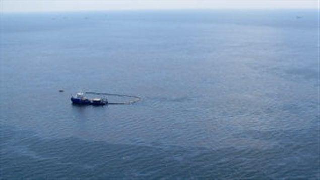 Au large des côtes américaines, une importante nappe de pétrole s'est échappée en avril 2010.