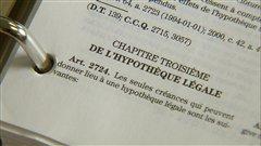 L'article 2724 du C.c.Q. sur les hypothèques légales