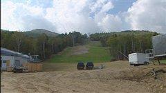 Les travaux ont commencé au Massif de la Petite-Rivière-Saint-François.