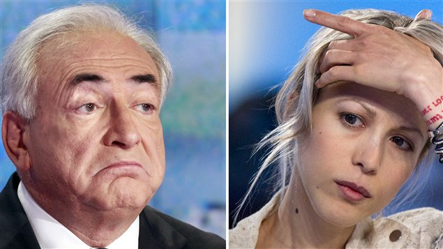 Dominique Strauss-Kahn ( gauche), le 18 septembre, et Tristane Banon, le 19 septembre