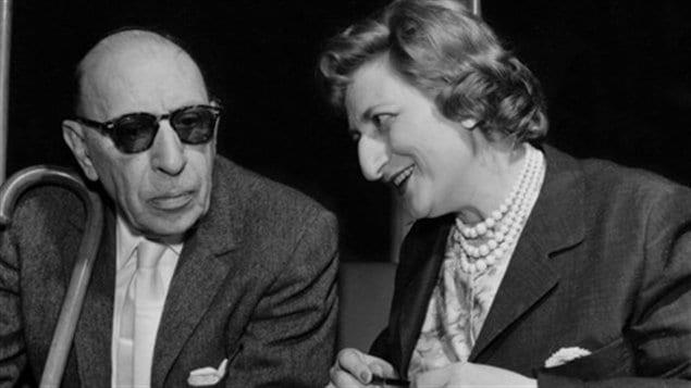 Igor Stravinski et Maryvonne Kendergi.