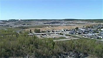 Vue aérienne d'une mine d'or exploitée par Osisko à Malartic, en Abitibi.