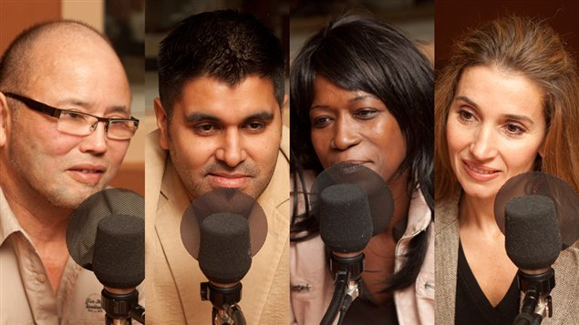 Jean Chen, Marcello Garcia-Rosales, Lydie Olga (N)tap et Nadia Zouaoui, le Conseil des Nations unies