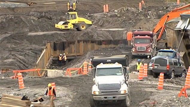Chantier de construction au Québec