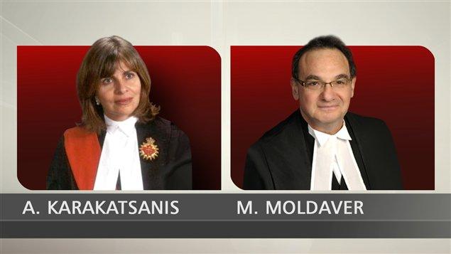 Les juges Andromache Karakatsanis et Michael J. Moldaver