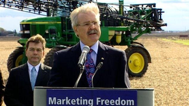 Le ministre fédéral de l'Agriculture, Gerry Ritz