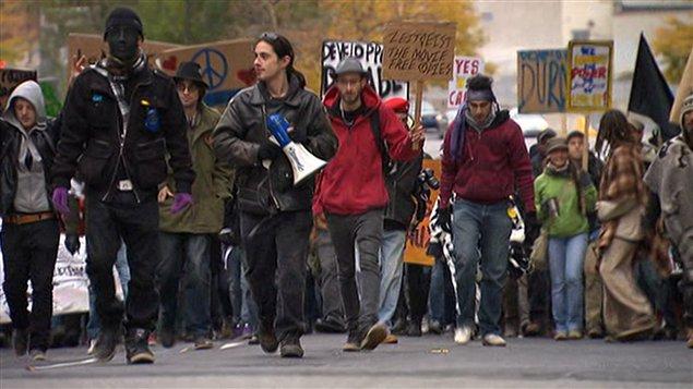Des manifestants à Montréal
