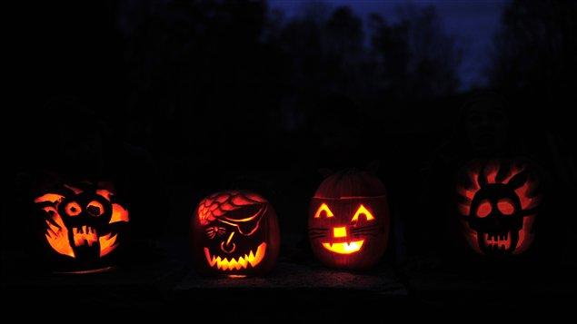 Des citrouilles d'Halloween