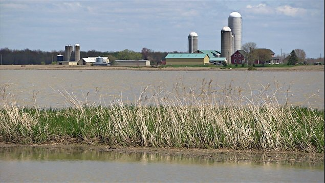 Lors de la crue de la rivière Richelieu au printemps 2011, près de 2500 hectares de bonnes terres agricoles ont été submergés pendant plusieurs semaines.