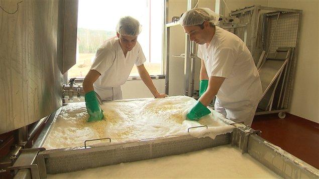 La Laiterie Charlevoix de Baie-Saint-Paul récupère le petit lait pour le transformer en combustible.