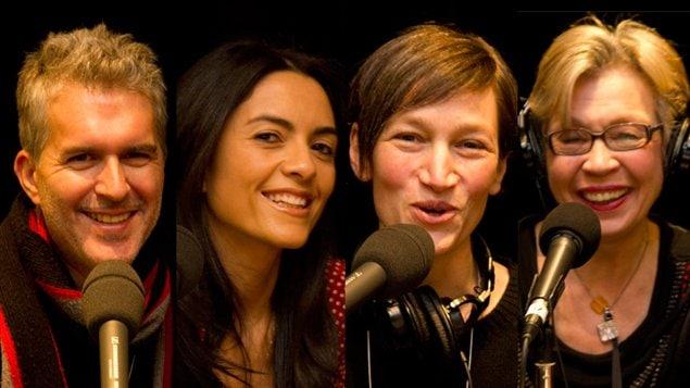 Stéphane Garneau, Alexandra Diaz, Élaine Turgeon et Carmen Bourassa, notre Conseil de famille