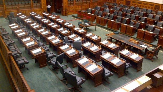 L'intérieur de l'Assemblée législative de l'Ontario - Crédit : Christian Noël