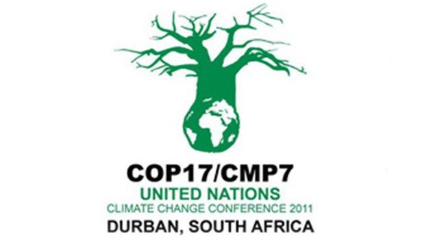 Le logo de la conférence de Durban