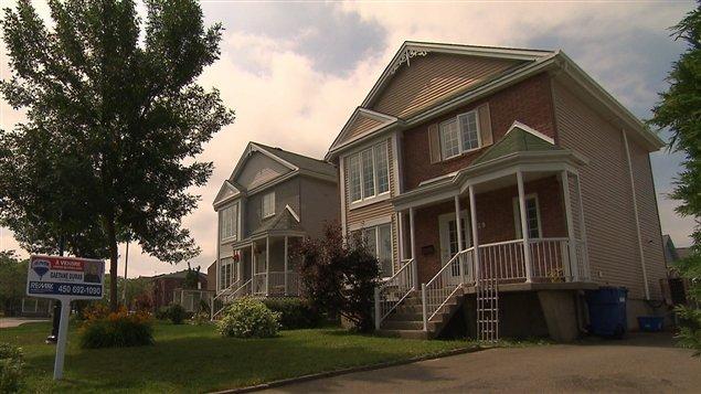 Une maison en vente sur la rive-sud de Montréal