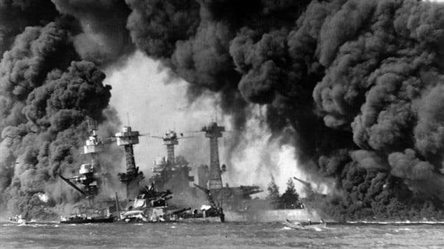 Une image de l'attaque de Pearl Harbor en 1941
