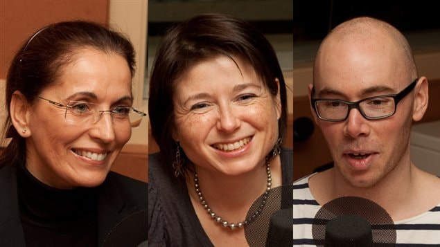 Francine Rodier, Ariane Krol et Louis-Philippe Pratte, qui nous présentent leur point de vue sur l'obsolescence planifiée
