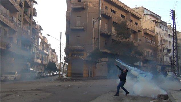 Manifestant à Homs