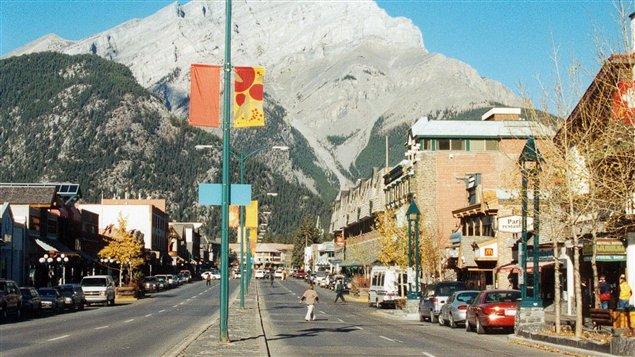 Le centre-ville de Banff, en Alberta (archives)