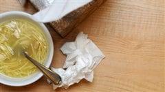 soupe au poulet pour le rhume