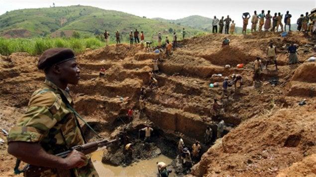 Des travailleurs dans une mine au Congo en 2010 (archives)