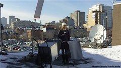 Julie Jasmine Boudreau sur le toit Wolfe
