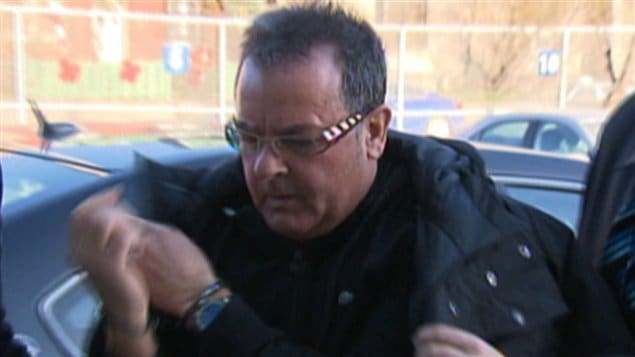 Raynald Desjardins lors de son arrestation, le 21 décembre 2011.
