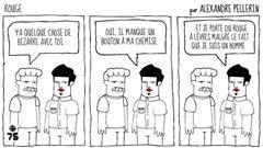 Alexandre Pellerin savoure le rouge